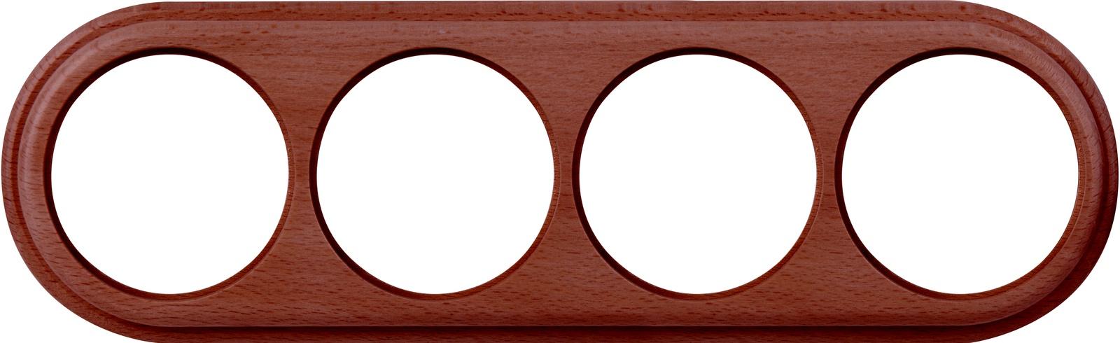 WL15-frame-04  Рамка на 4 поста итальянский орех