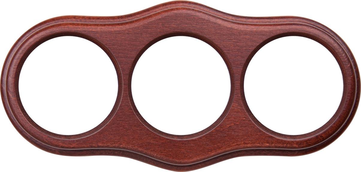 WL20-frame-03  Рамка на 3 поста итальянский орех