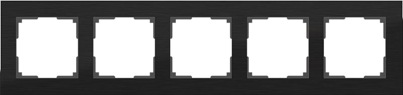 WL11-Frame-05 / Рамка на 5 постов (черный алюминий)