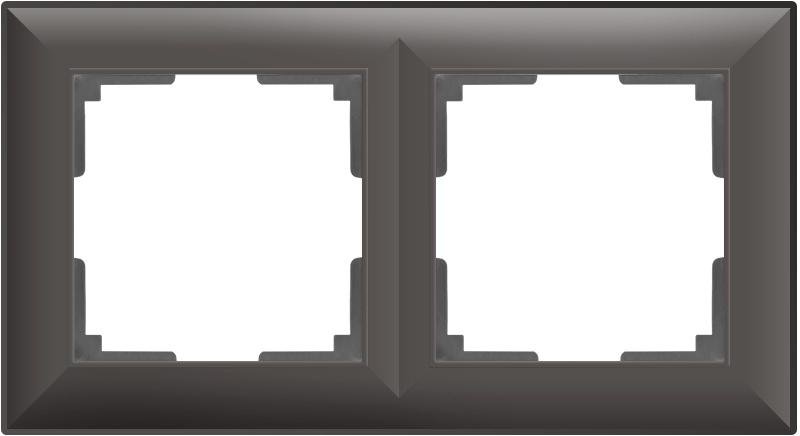 цены WL14-Frame-02/ Рамка на 2 поста (серо-коричневый)