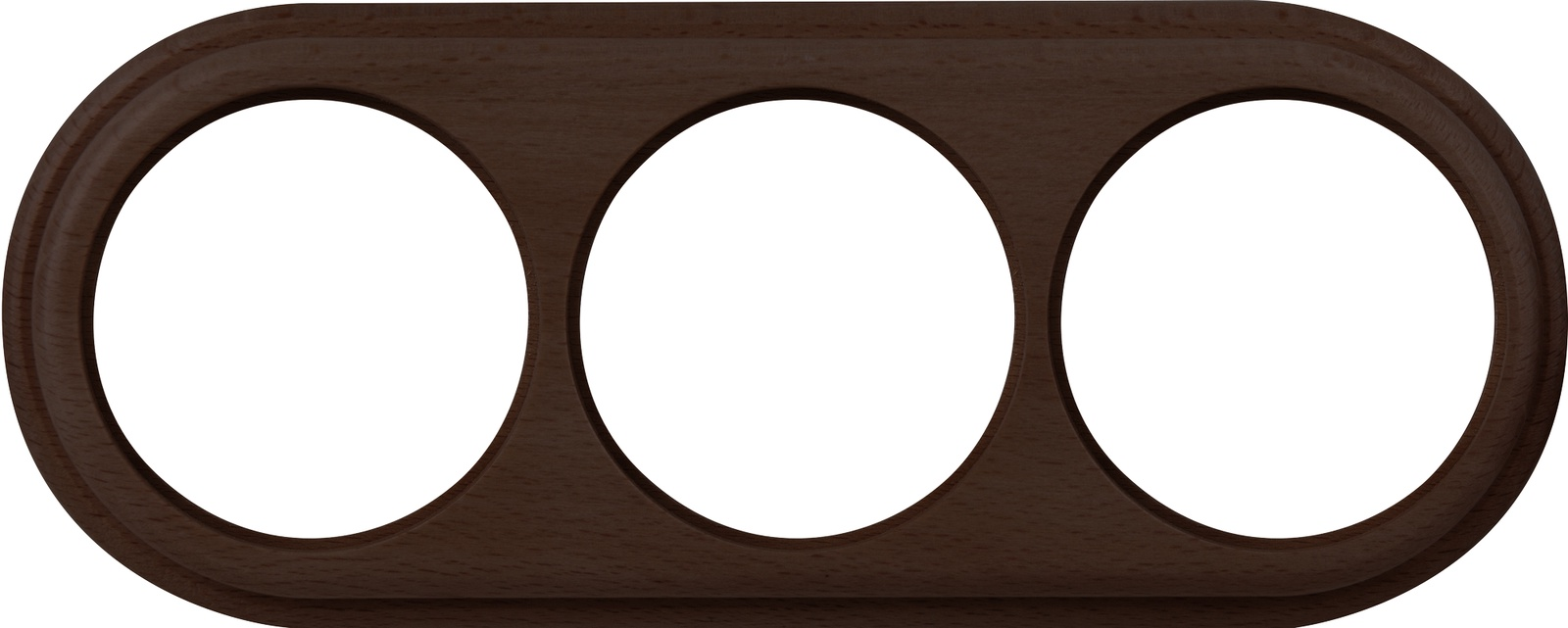 WL15-frame-03  Рамка на 3 поста венге