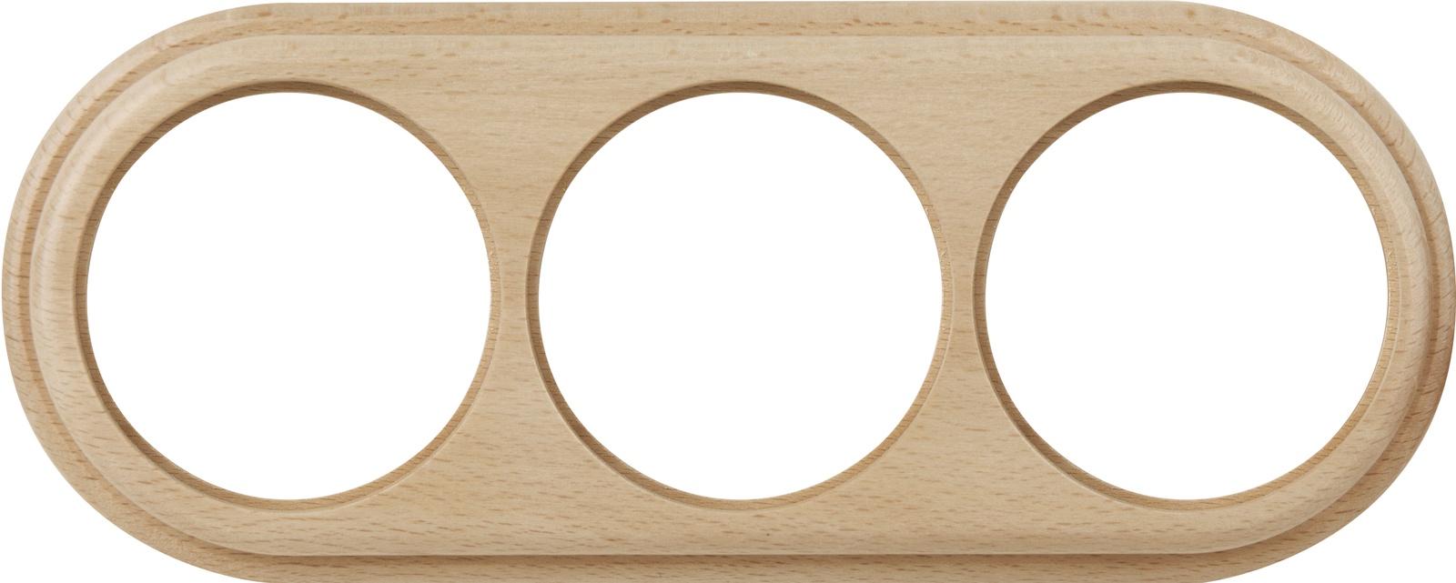 WL15-frame-03 / Рамка на 3 поста (светлый бук) цена и фото