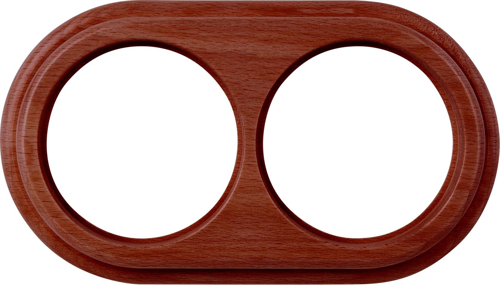 Рамка электроустановочная Werkel на 2 поста итальянский орех WL15-frame-02 коричнево-красный