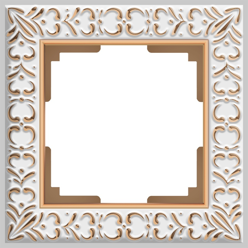 Рамка электроустановочная Werkel на 1 пост (белое золото) WL07-Frame-01