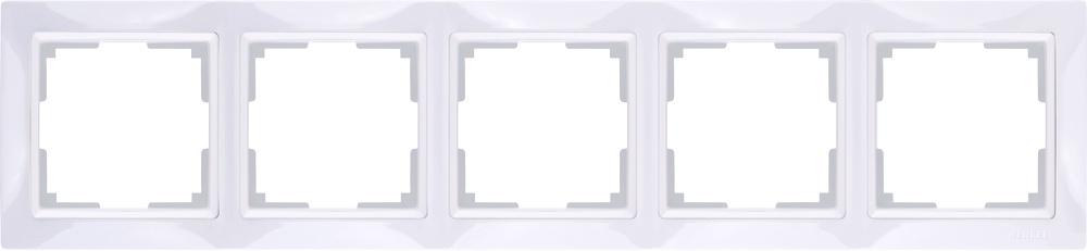 WL03-Frame-05/ Рамка на 5 постов (белый, basic) цена и фото