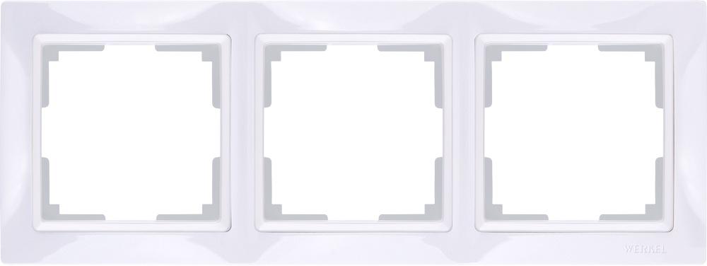 WL03-Frame-03/ Рамка на 3 поста (белый, basic) цена и фото