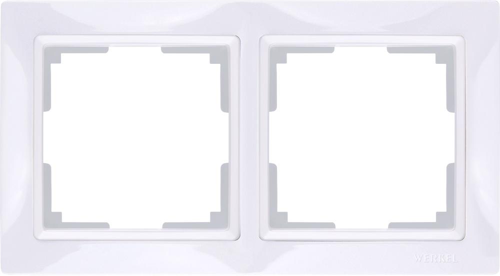 Фото - WL03-Frame-02/ Рамка на 2 поста (белый, basic) рамка на 2 поста werkel a039117
