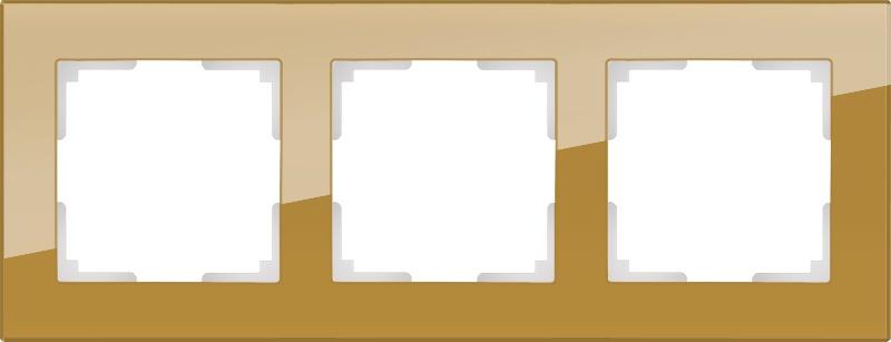 WL01-Frame-03 / Рамка на 3 поста (бронзовый) цена и фото