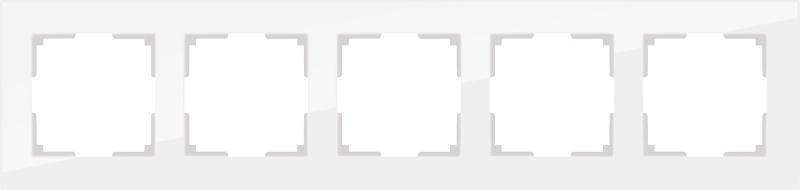 WL01-Frame-05 / Рамка на 5 постов (белый матовый)