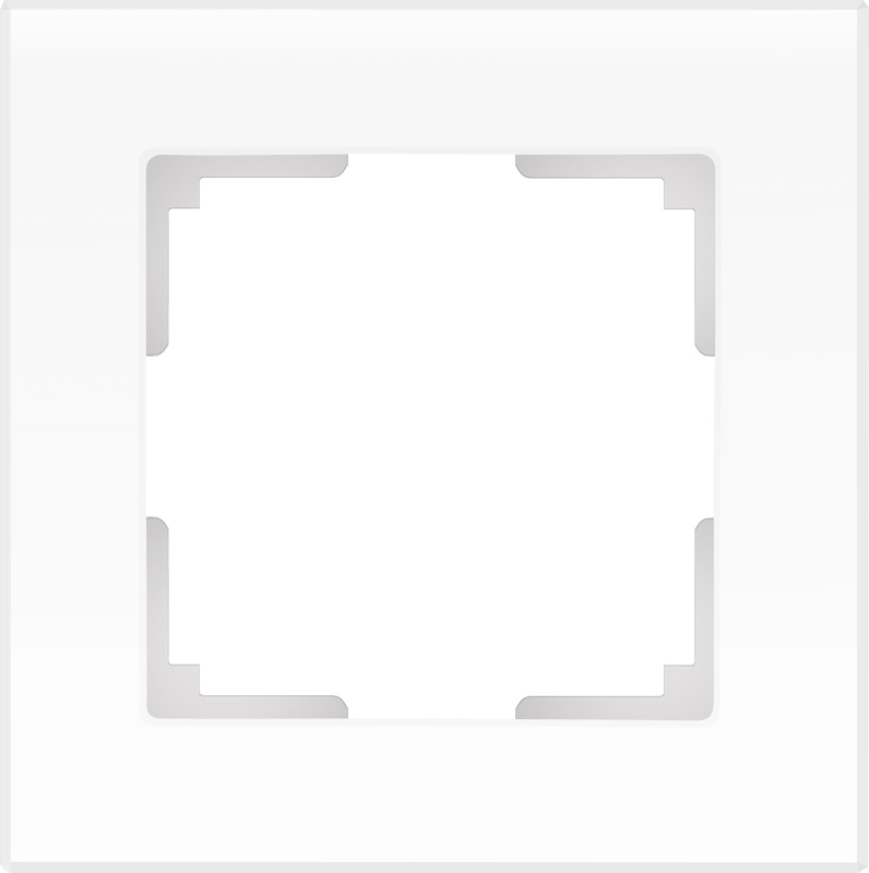 WL01-Frame-01 / Рамка на 1 пост (белый матовый)