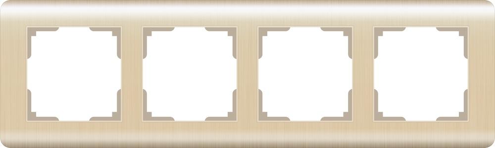 WL12-Frame-04 / Рамка на 4 поста (шампань) цена и фото