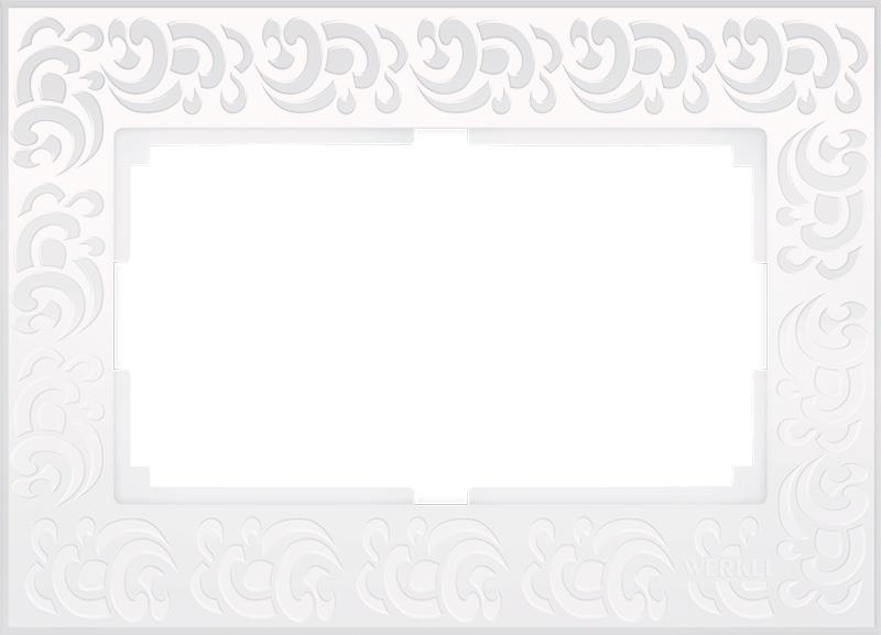 WL05-Frame-01-DBL-white / Рамка для двойной розетки (белый) цена и фото
