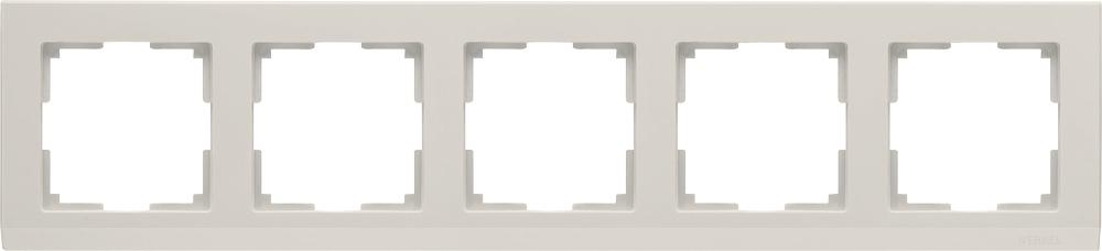 Рамка электроустановочная Werkel на 5 постов (слоновая кость) WL04-Frame-05-ivory, слоновая кость цены