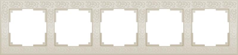 WL05-Frame-05-ivory /Рамка на 5 постов (слоновая кость) цены