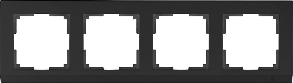 Рамка электроустановочная Werkel a029217, черный
