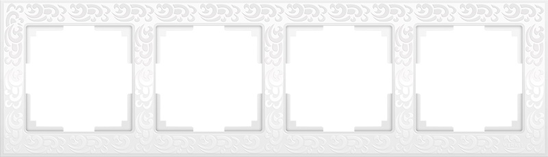 WL05-Frame-04-white / Рамка на 4 поста (белый) цена и фото