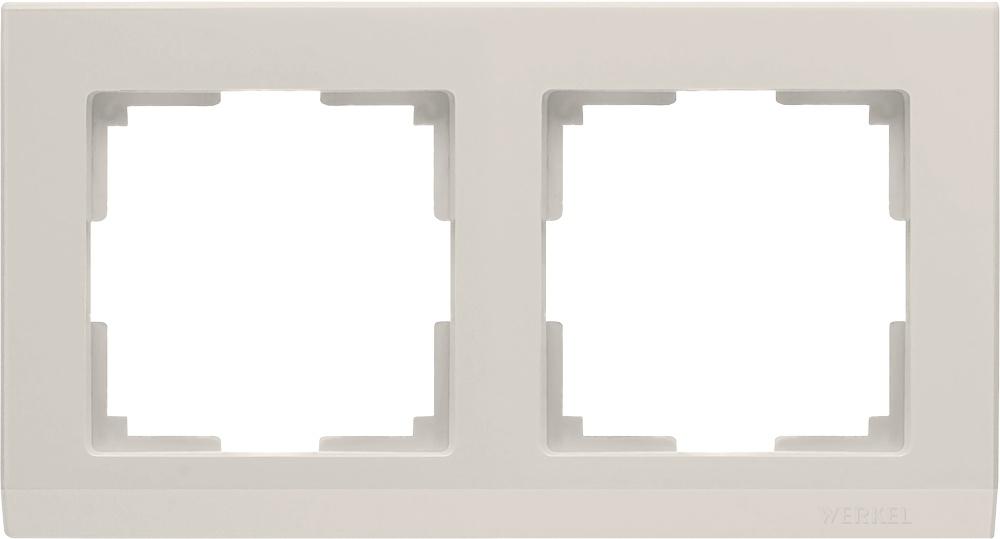 Рамка электроустановочная Werkel a028942, слоновая кость дверь eldorf мюнхен 2 остекленная 2000х700 экошпон слоновая кость