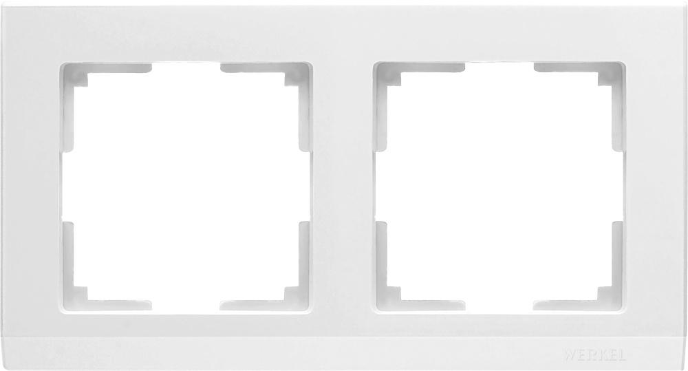 WL04-Frame-02-white / Рамка на 2 поста (белый) книга 84 2 2