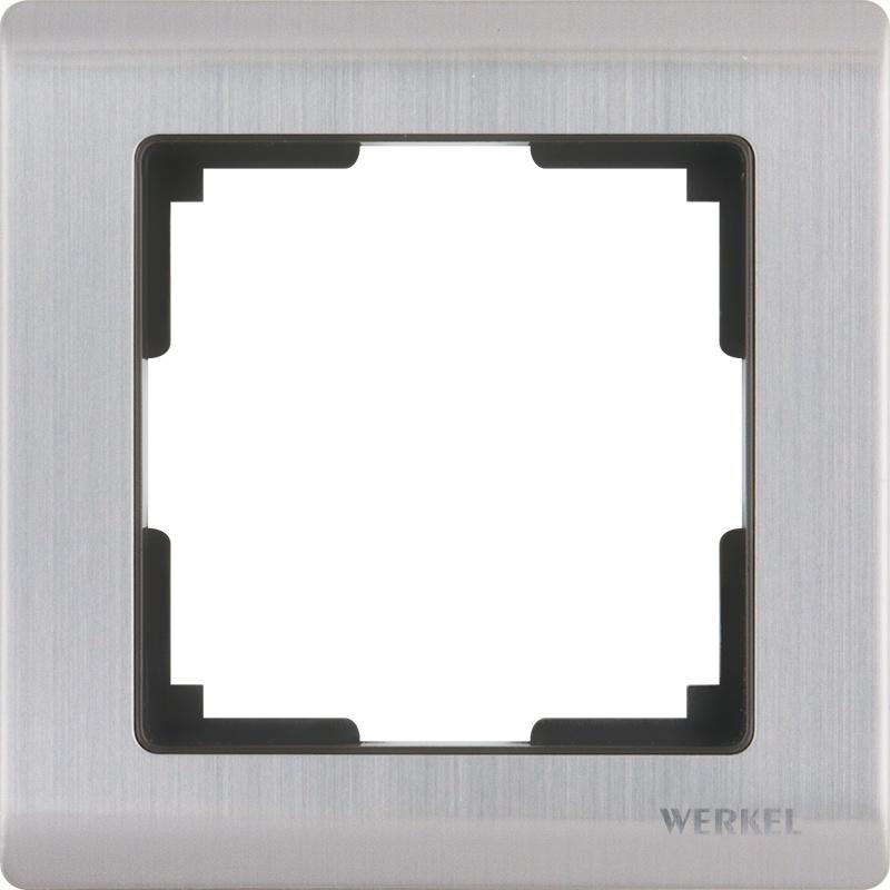 WL02-Frame-01 / Рамка на 1 пост (глянцевый никель) цена и фото
