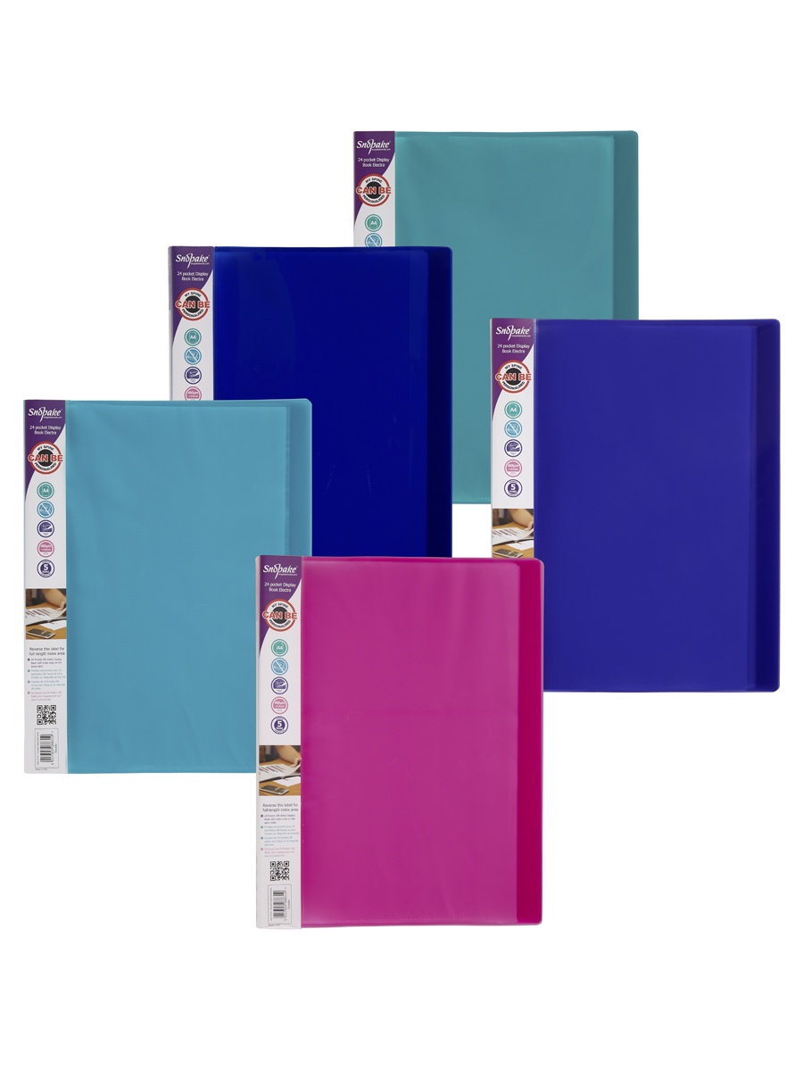 Папка с файлами Snopake 12219P, голубой, синий, розовый, зеленый, фиолетовый