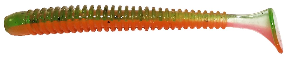 Приманка рыболовная Siweida Spark Tail Shad, 69948, зеленый, оранжевый (396), 75 мм, 7,5 г, 7 шт