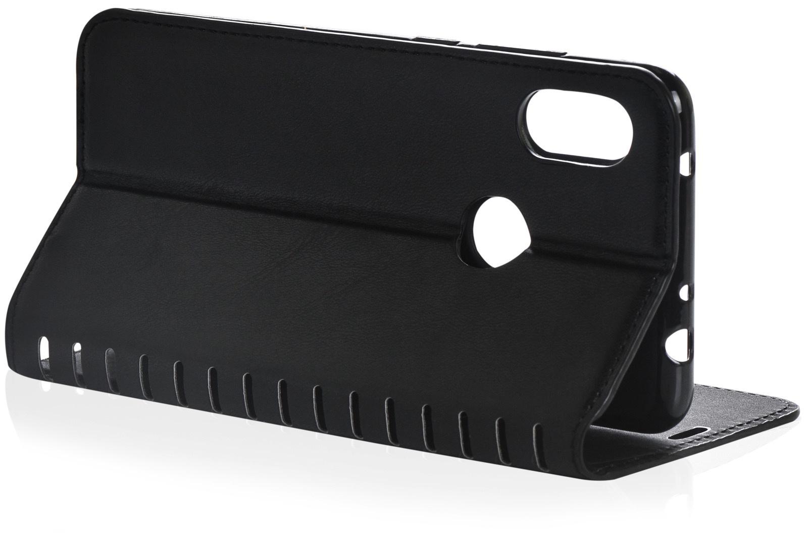 Чехол для сотового телефона Gurdini Premium case книжка с силиконом на магните black Xiaomi Redmi Note 6 Pro, черный
