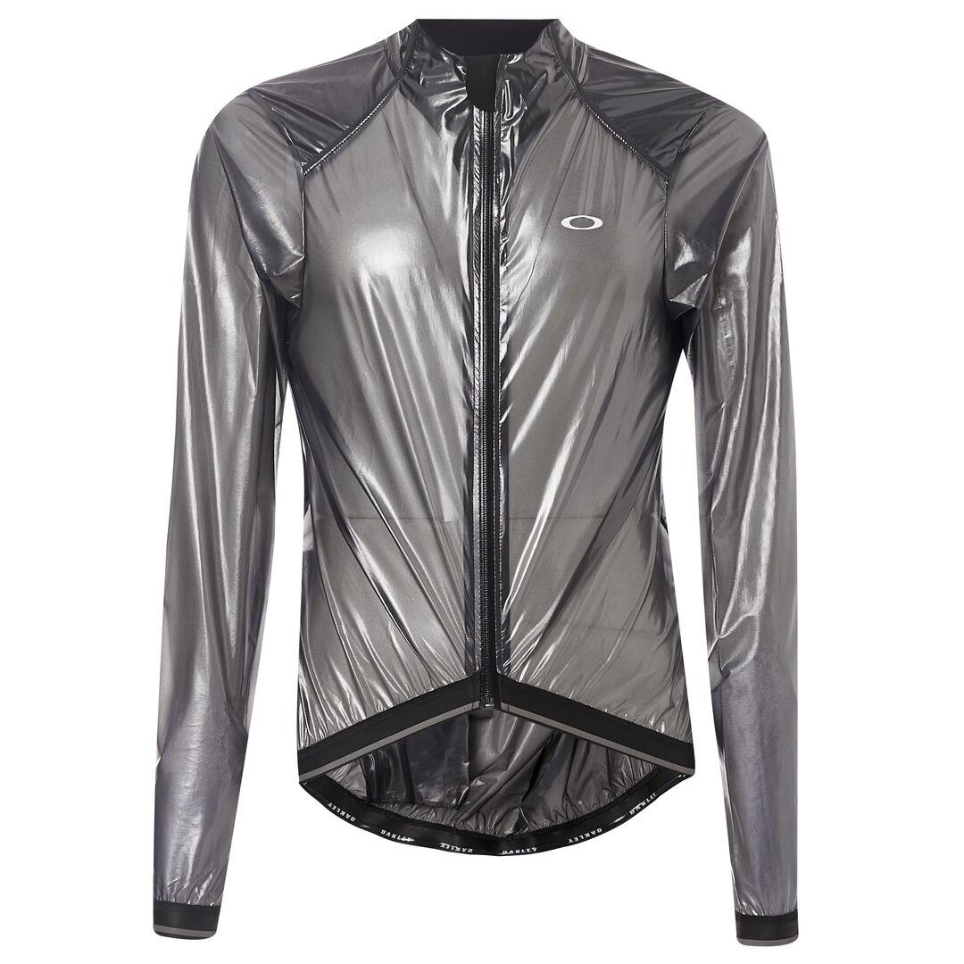 цена на Велокуртка мужская Oakley Jawbreaker Road Jacket, 412430A-02E_Blackout, черный, прозрачный, размер M (48)