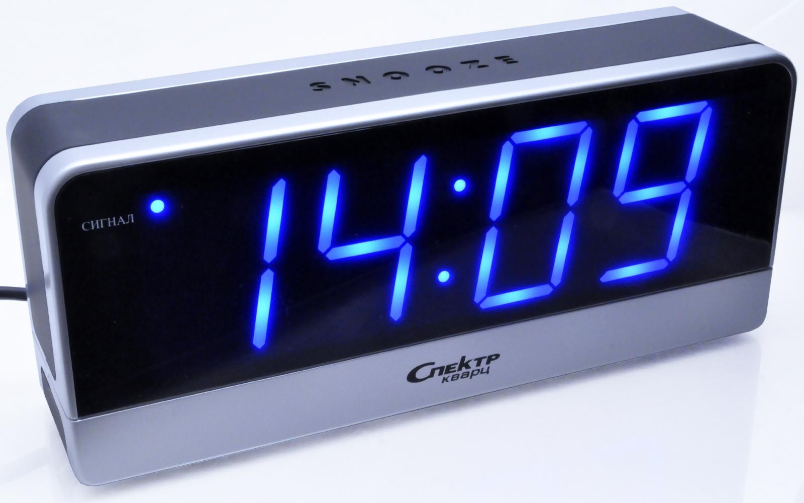 Электронный будильник Спектр ноутбук в режиме будильника