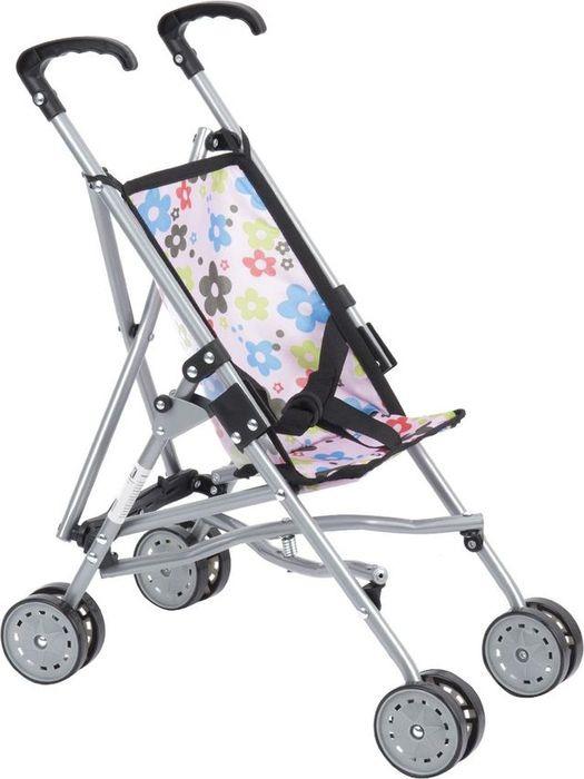 Коляска-трость для кукол Melobo Цветы, S9307, розовый коляска для кукол пластмастер
