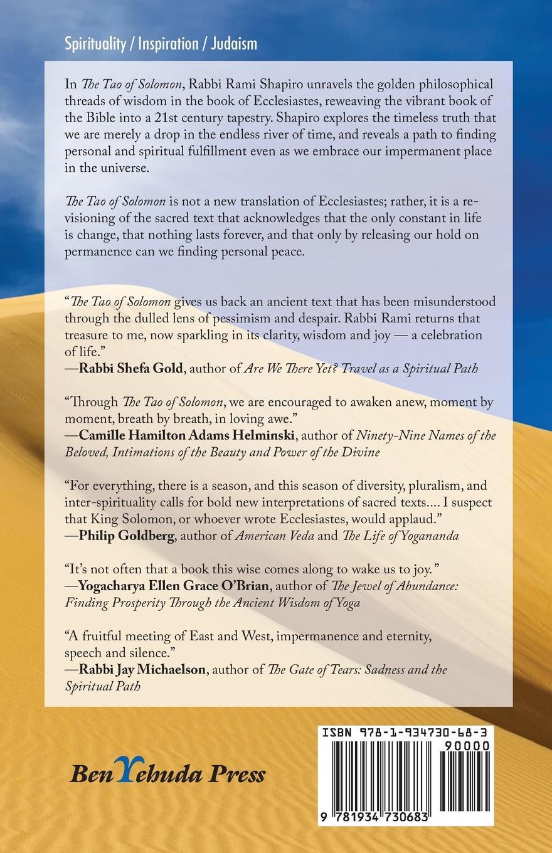 лучшая цена Rami Shapiro The Tao of Solomon. Unlocking the Perennial Wisdom of Ecclesiastes