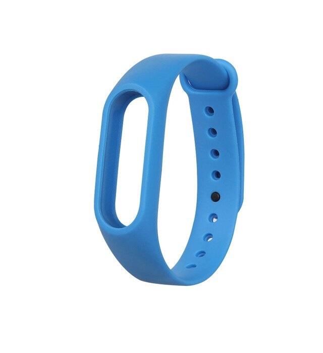 Ремешок для фитнес-браслета Силиконовый для Xiaomi Mi Band 2, синий цена и фото