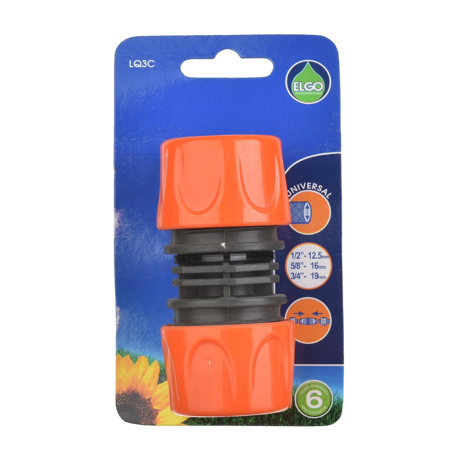 Коннектор шланга ELGO LQ3C, оранжевый муфта ремонтная пластиковая двухкомпонентная fit цвет серо оранжевый 1 2 3 4