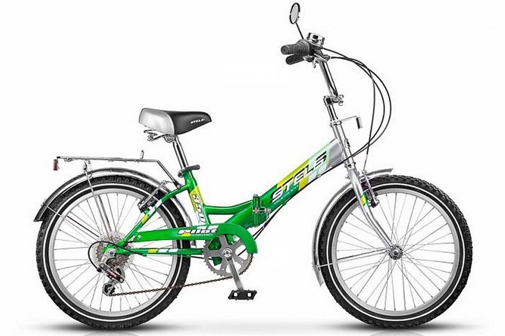 Велосипед Stels Pilot-350, серебристый, зеленый