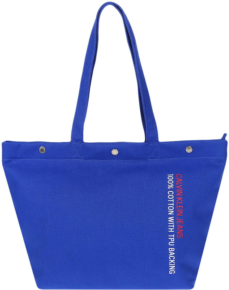 Сумка женская Calvin Klein Jeans, K60K605248_4550, синий рубашка женская calvin klein jeans цвет синий j20j209111 9110 размер s 42 44
