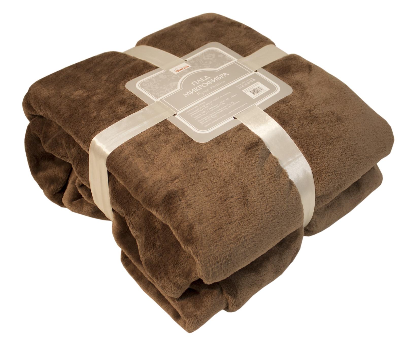 Плед Belezza 6118776, коричневый цена