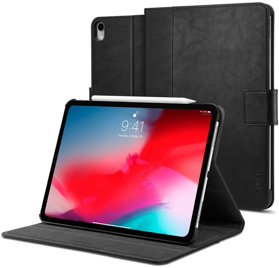 Чехол для планшета SGP Stand Folio для iPad Pro 12.9 2018, черный fashion 360 rotating case for ipad pro 12 9 inch litchi leather stand back cover apple fundas