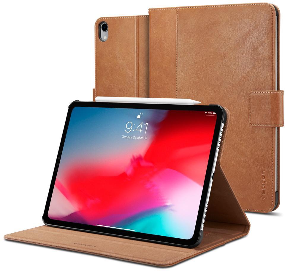 Чехол для планшета SGP Stand Folio для iPad Pro 12.9 2018, коричневый fashion 360 rotating case for ipad pro 12 9 inch litchi leather stand back cover apple fundas