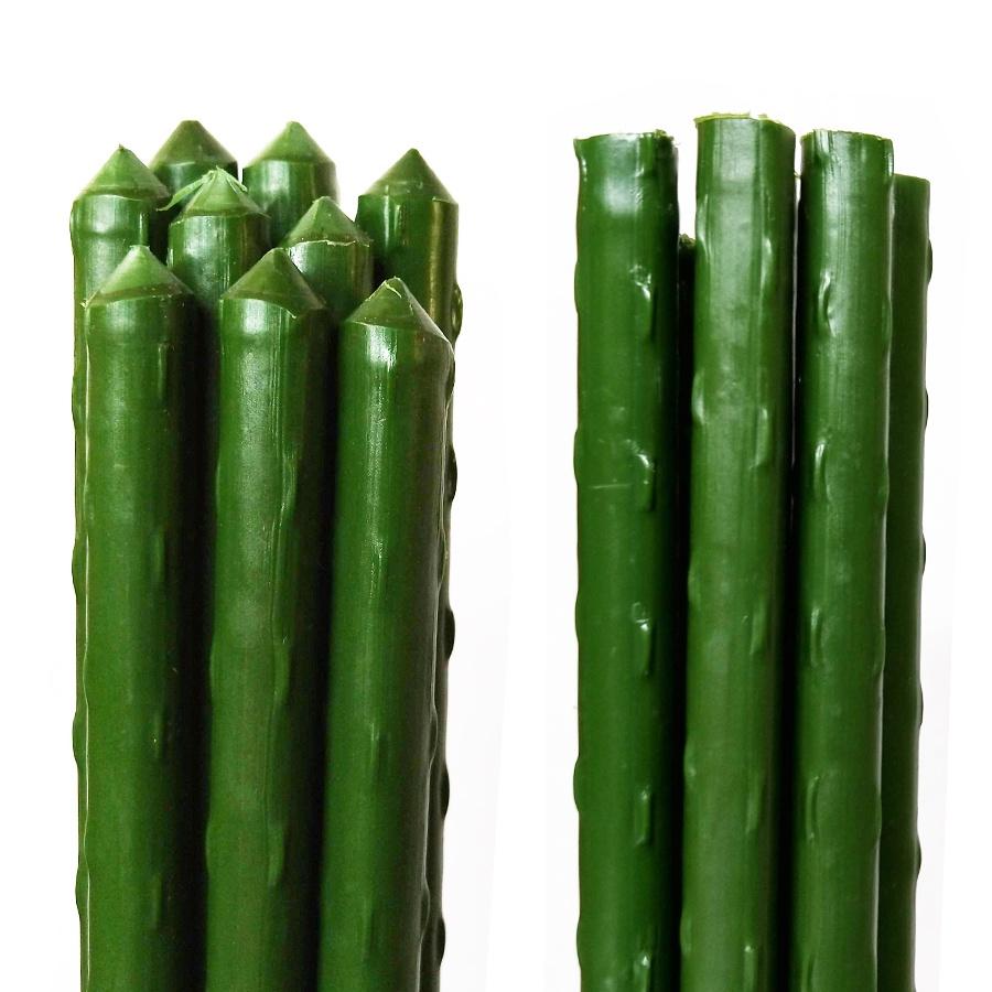 Опора для растений поливчик 10 штук длина 120 см, зеленый опора для растений 42 5см пластик