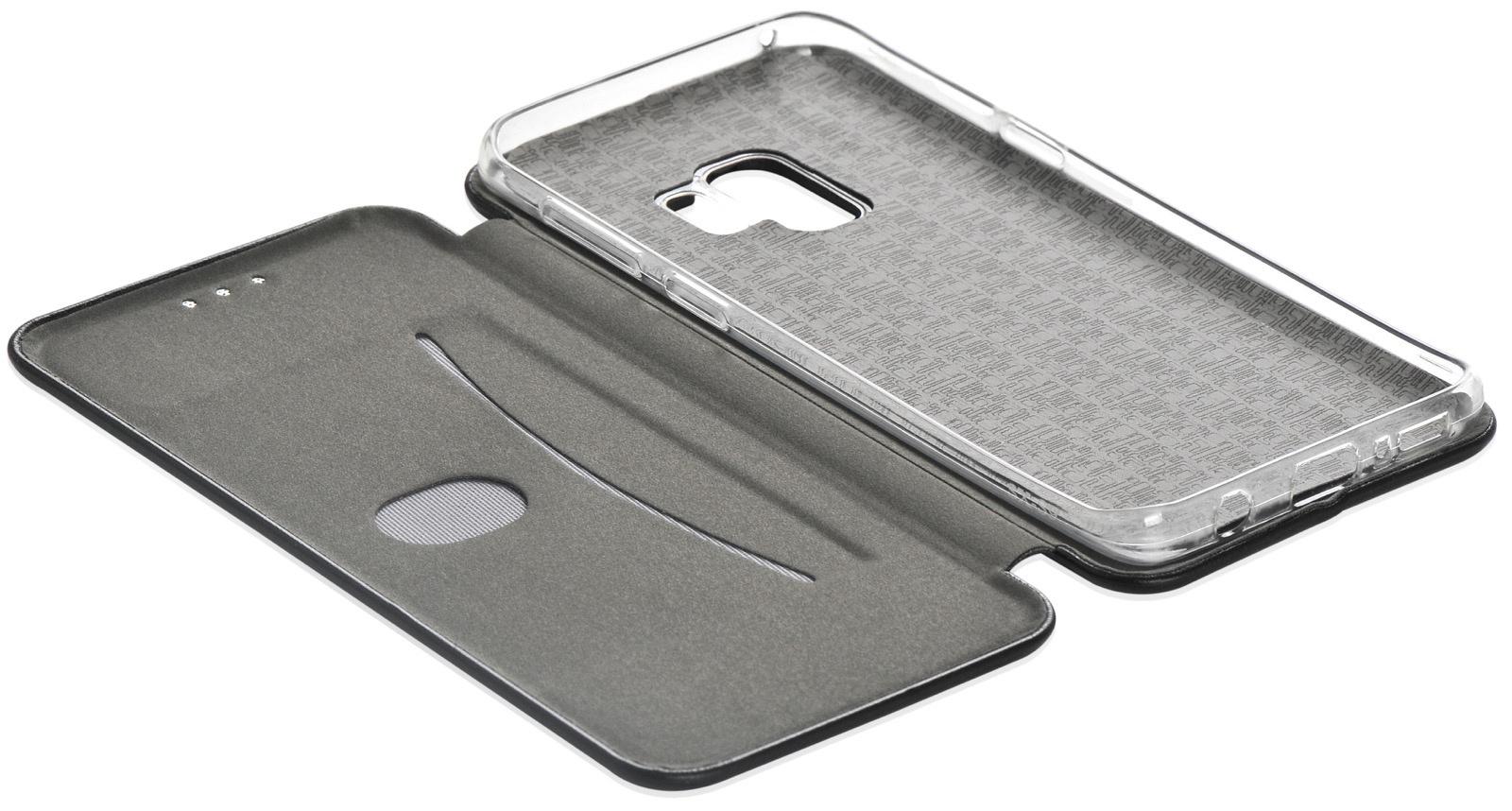 Чехол для сотового телефона Gurdini Premium case книжка Eco кожа с визиткой black для Samsung Galaxy S9, черный