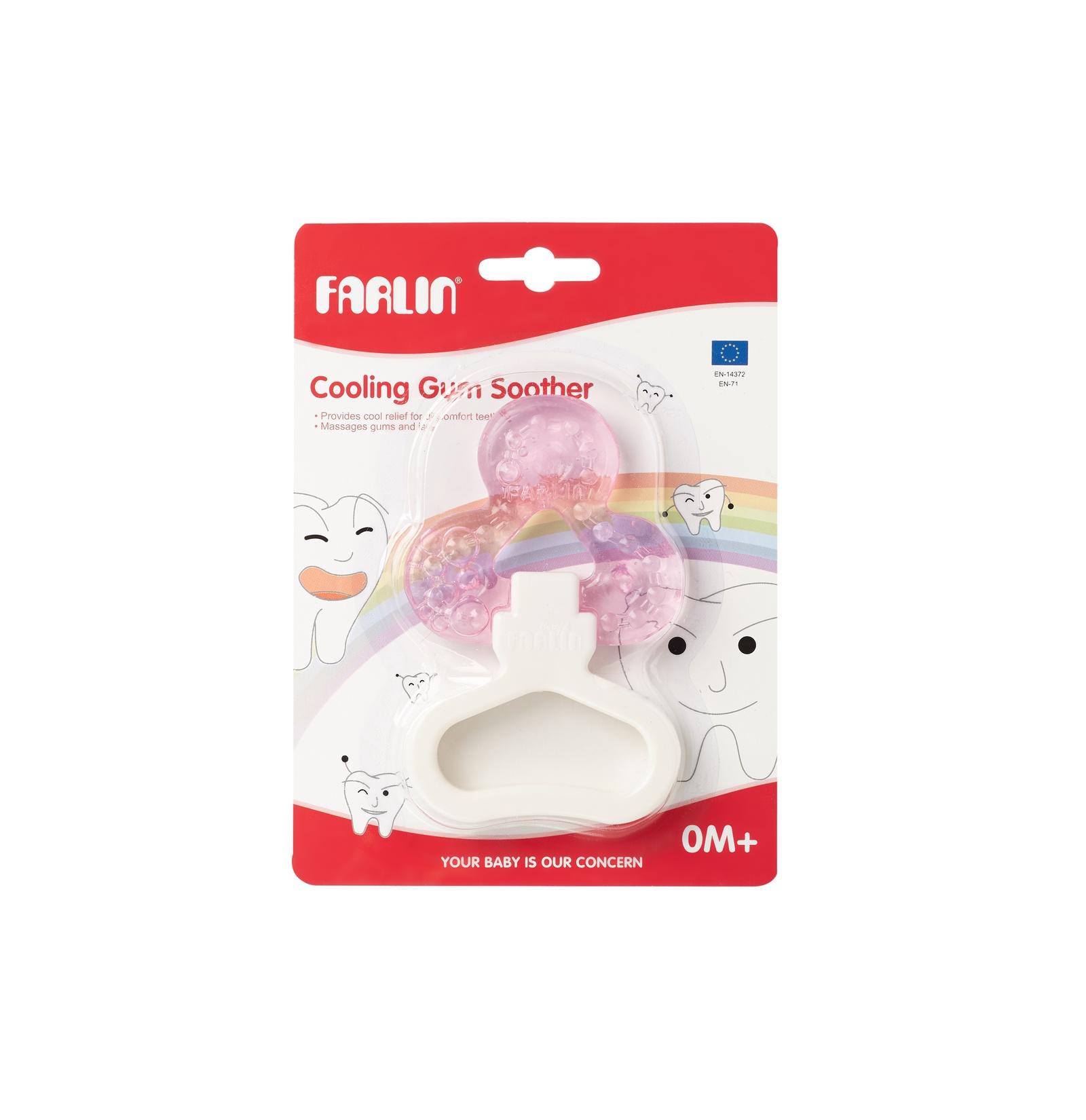 Прорезыватель Farlin Универсальный охлаждающий для задних зубов розовый зубов а коды аутентификации