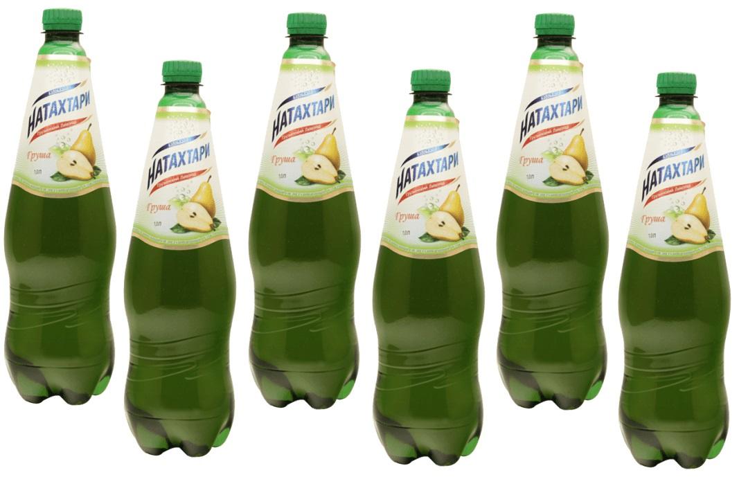 Газированный напиток Натахтари Груша 1 литр, упаковка 6 штук,