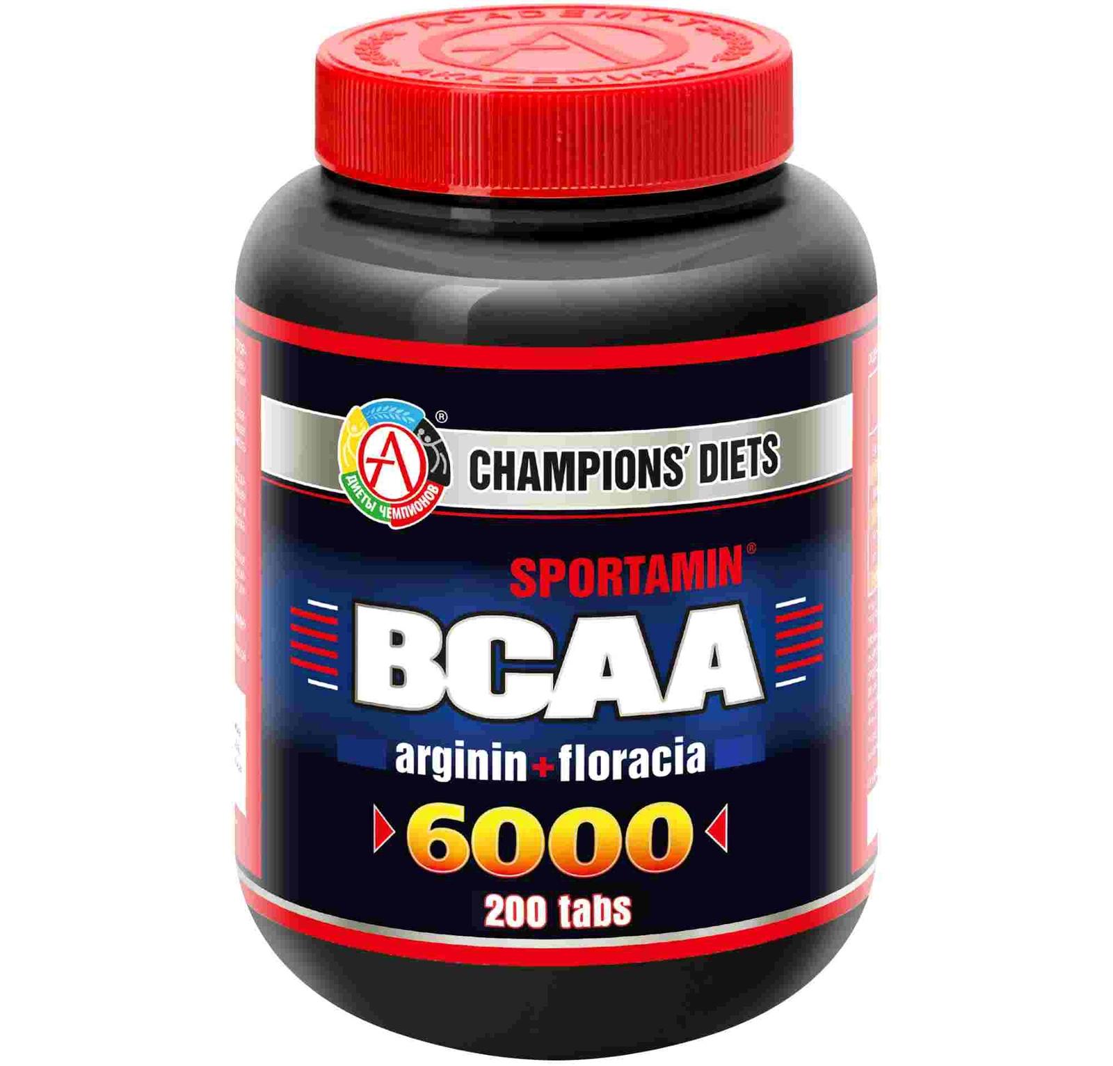 "BCAA ""BCAA 6000 Спортамин"" 200 таблеток"