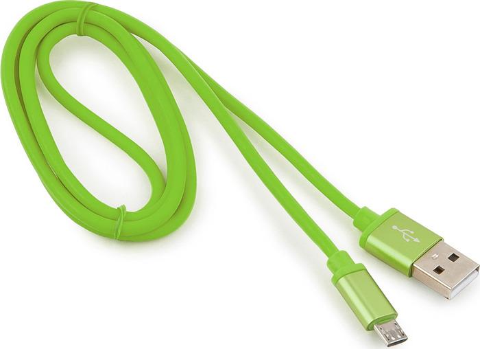 Кабель Cablexpert CC-S-mUSB01Gn-1M USB 3.0 тип B - USB 2.0 тип A, зеленый, 1 м кабель 2 в 1 lightning и micro usb для зарядки и передачи данных i mu
