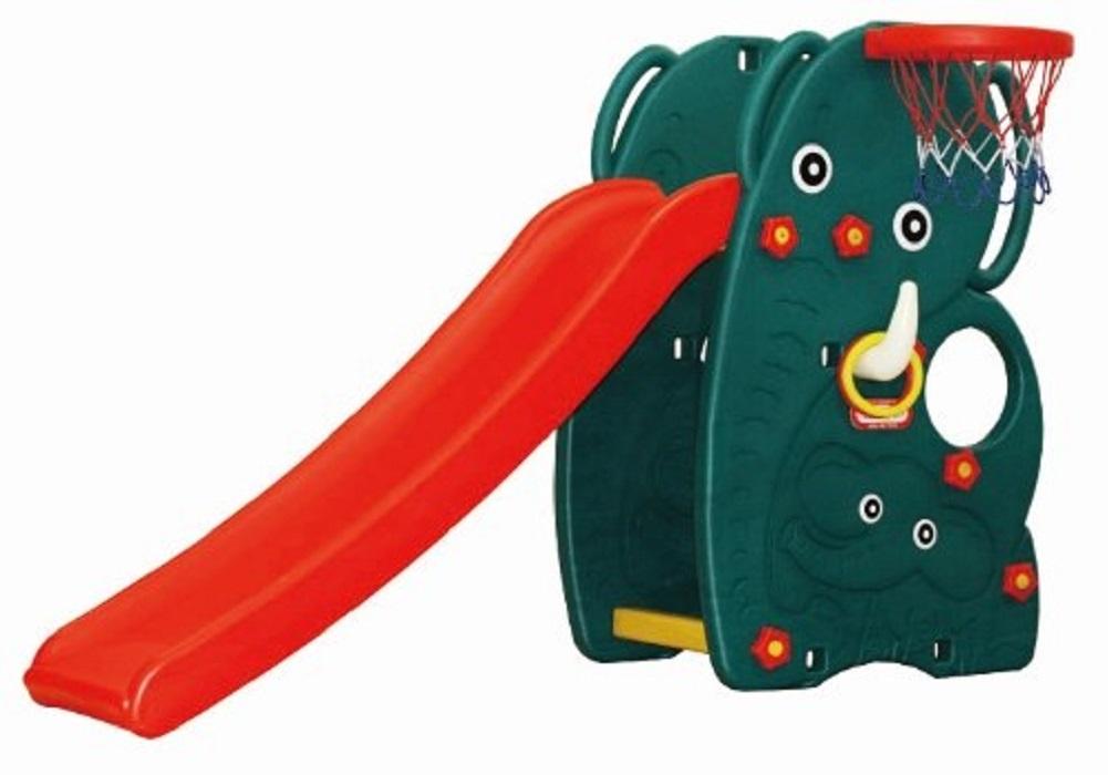 Детская горка HAPPY BOX Слон зеленый