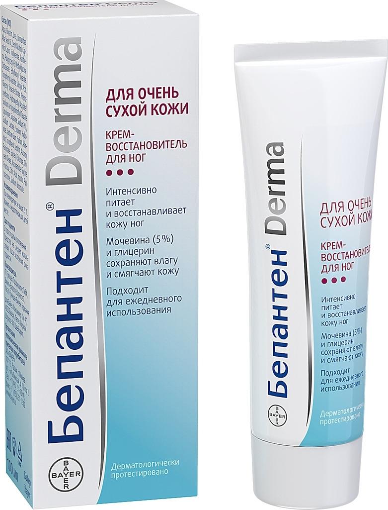 Бепантен Derma Крем-восстановитель для ног, 100 мл бепантен мазь 5% 50г