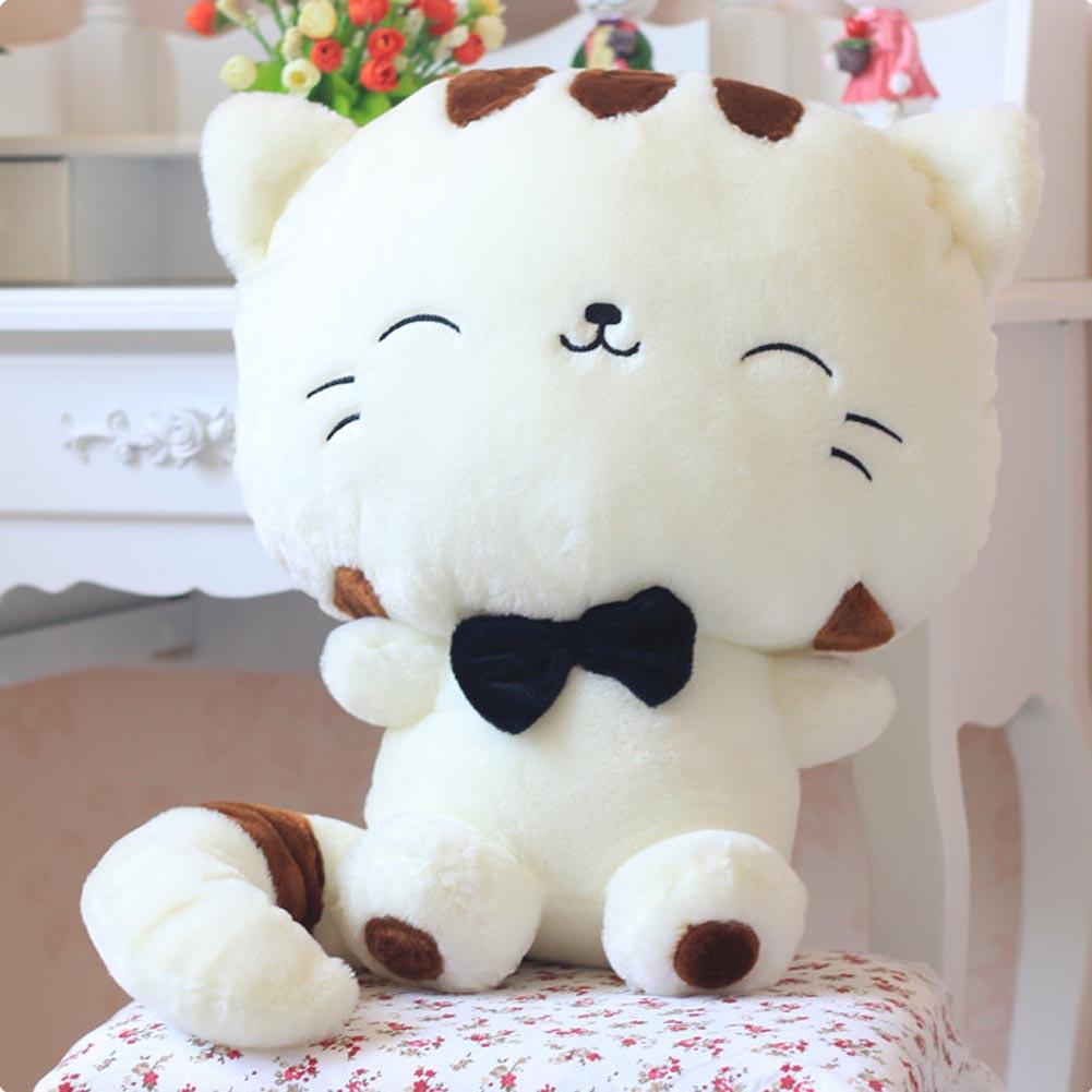 Мягкая игрушка TopSeller Мягкая плюшевая игрушка (кот) белый