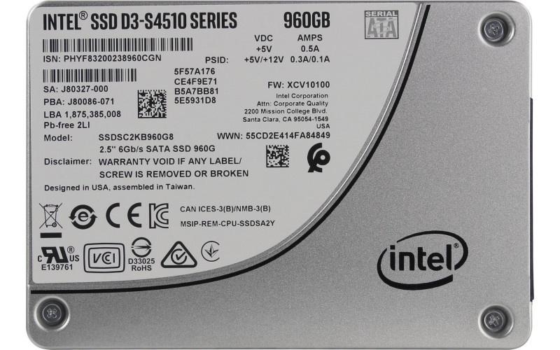SSD диск Intel D3-S4510 intel intel серии solid state drive 120g простой пакет sata3 интерфейс ssdsc2bw120a401 530