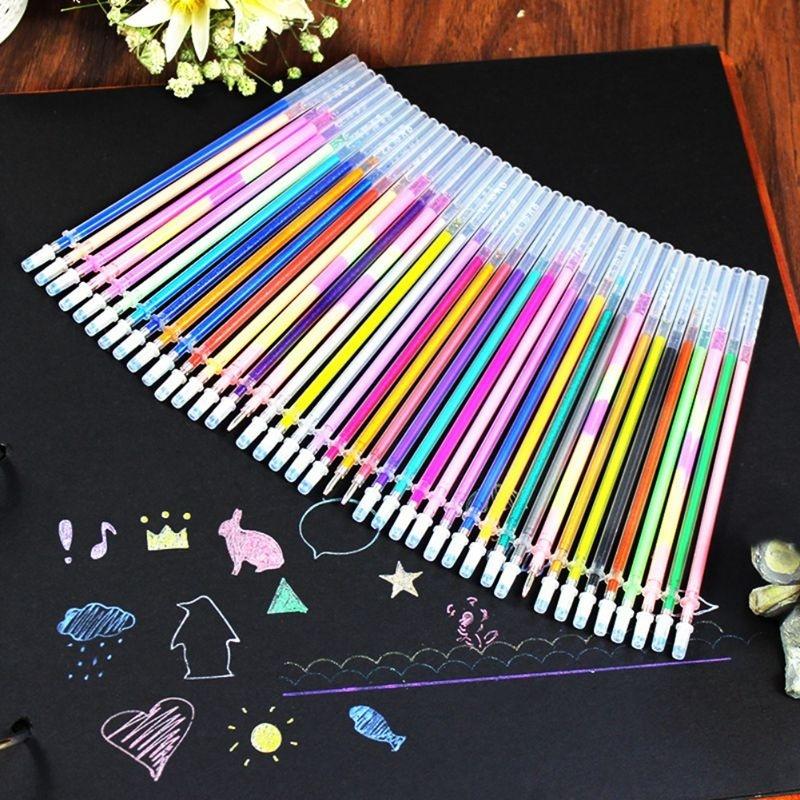 Стержень для ручки TopSeller Набор цветных стержней для гелевой ручки цены