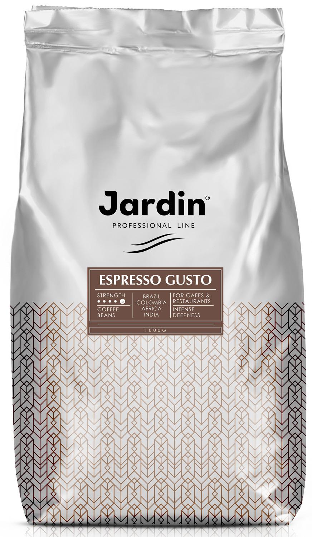Jardin Espresso Gusto кофе в зернах, 1 кг (промышленная упаковка) jardin crema кофе в зернах 1 кг промышленная упаковка