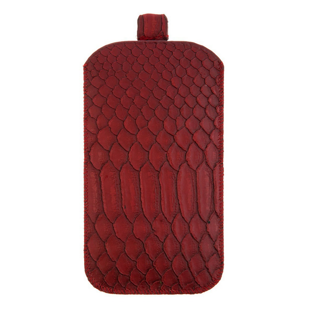 Чехол для сотового телефона IQ Format универсальный, 135*75, с выдвижной лентой, экокожа, бордовый
